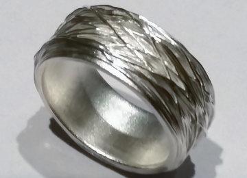 Lijntjesring fijn zilver